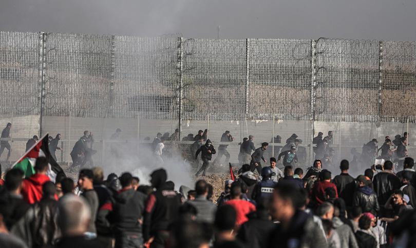 десетки палестинци ранени сблъсъци границата израел