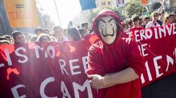 Италиански студенти протестираха срещу намаляването на парите за образование