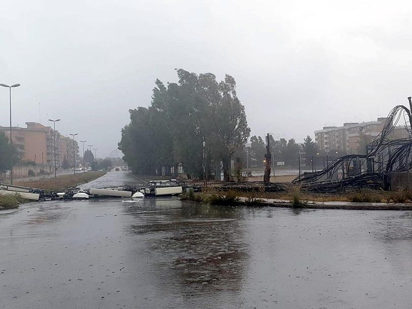силни бури италия причиниха наводнения материални щети