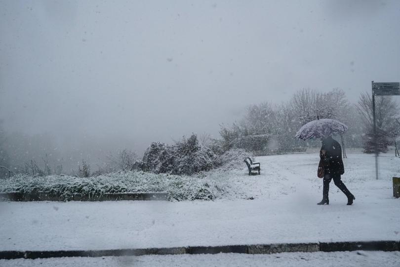 снимка 2 Бури, студ и снеговалежи сковаха Испания и Италия (СНИМКИ)