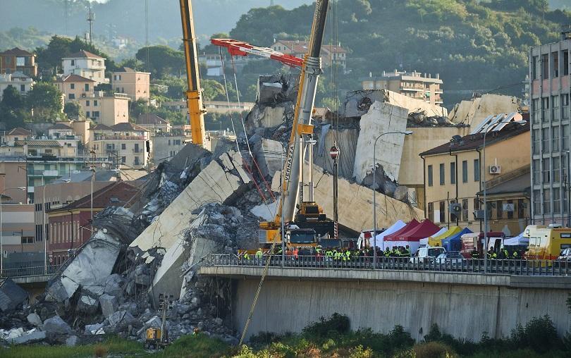 снимка 1 Генуа е в двудневен траур заради срутването на моста Моранди