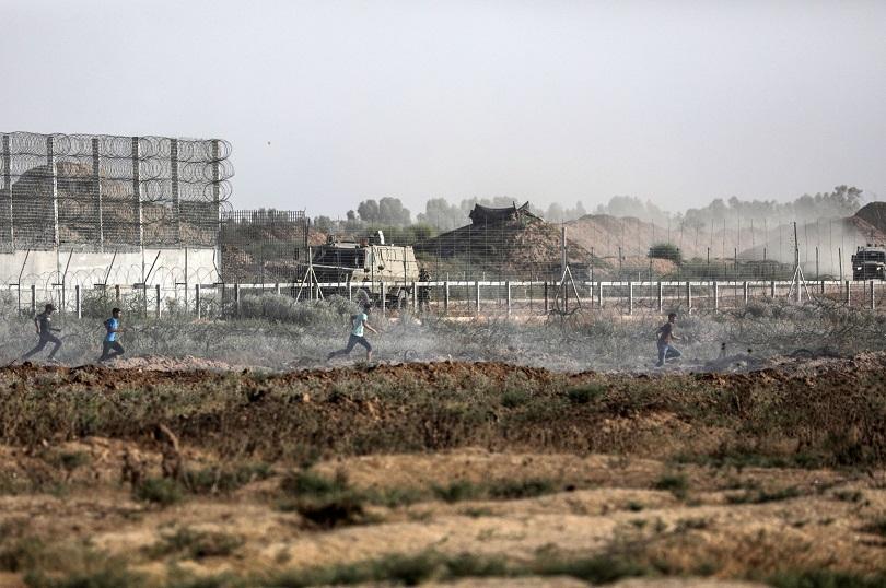 десетки палестинци пострадаха сблъсъци ивицата газа