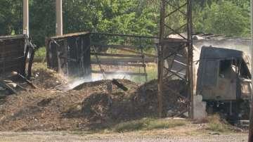 Четири ТИР-а и цистерна изгоряха тази нощ в Айтос