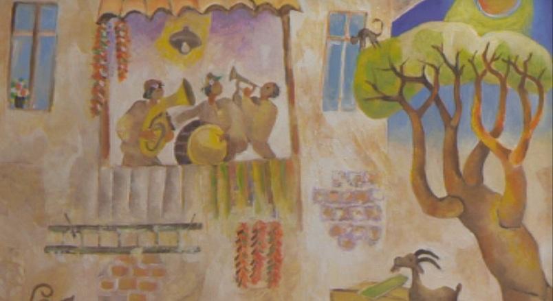 Творби на художника Милчо Спасов бяха подредени в Клуба на