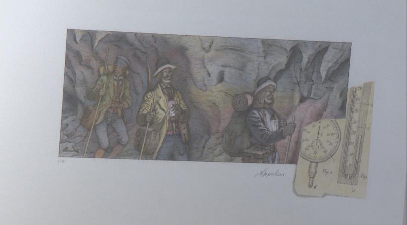 Илюстрации на Ясен Гюзелев по творби на Жул Верн и