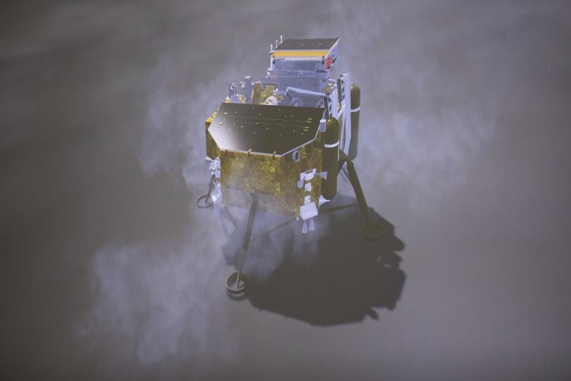 снимка 1 За първи път: Китайски апарат кацна на обратната страна на Луната