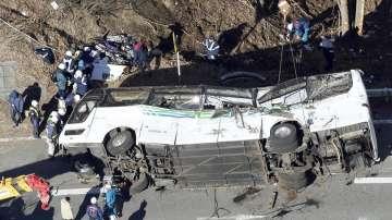 Тежка катастрофа с автобус в Япония