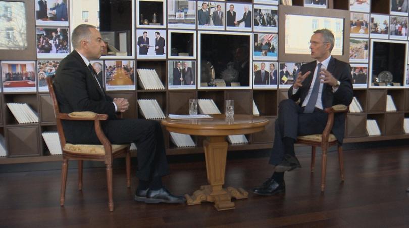 снимка 1 Генералният секретар на НАТО Йенс Столтенберг в специално интервю за БНТ