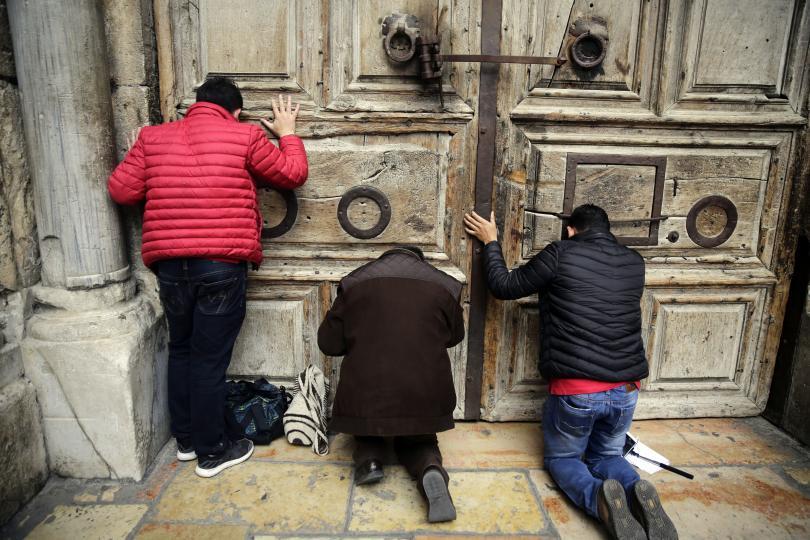 снимка 1 Храмът на Божи гроб в Ерусалим остава затворен днес