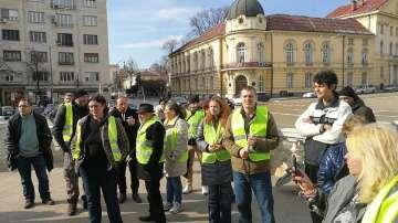 Български жълти жилетки протестираха пред Народното събрание