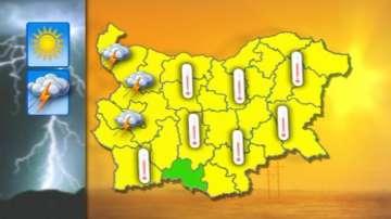 Жълт код за гръмотевични бури и високи температури