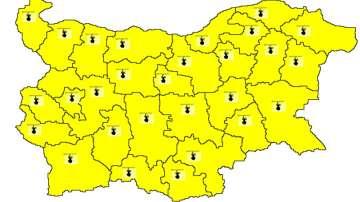 Жълт код за жеги в цялата страна