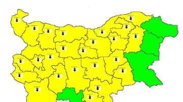 Жълт код за високи температури в 24 области на страната за 24 юли