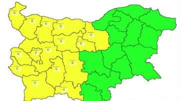 Жълт код за валежи от сняг в 15 области от страната за 15 януари