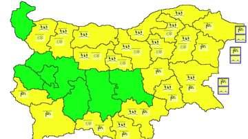Рязко застудяване: Жълт код за валежи и силен вятър в 21 области на страната