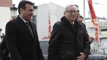 Жан-Клод Юнкер е на среща с македонския премиер Зоран Заев