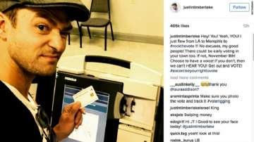 Джъстин Тимбърлейк няма да бъде наказан за снимка в изборна секция в Тенеси