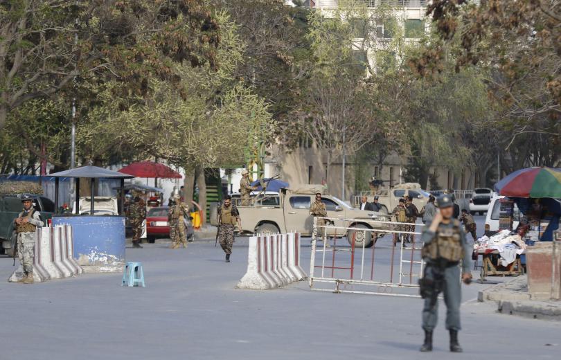 Снимка: Нападение срещу Министерството на информацията в Кабул