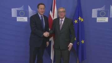Дейвид Камерън на преговори с лидерите на Европейския съюз