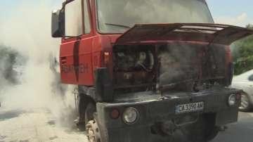 Камион се запали на пътя Драгичево - Владая
