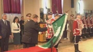 Каракачанов връчи знаме на ученически гвардейски отряд в Плевен
