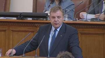 Каракачанов: Темата с наборната военна служба не е затворена