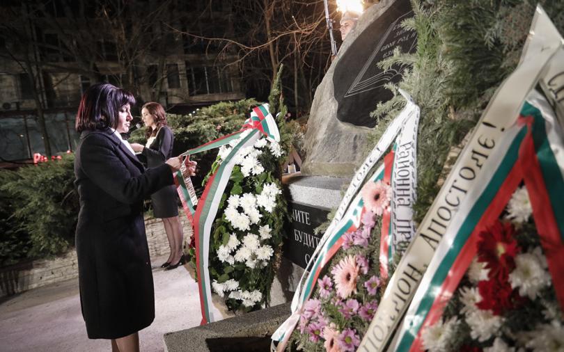 Снимка: Председателят на НС се включи във възпоменателната церемония за Левски в Петрич