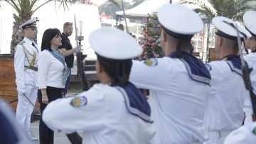 Цвета Караянчева присъства на военноморското учение Бриз 2019