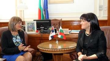Цвета Караянчева се срещна с председателя на Народната скупщина на Сърбия