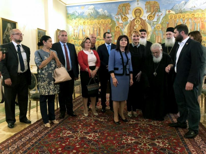 българската парламентарна делегация срещна грузинския патриарх