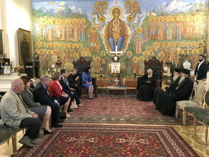 снимка 1 Българската парламентарна делегация се срещна с грузинския патриарх