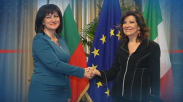 Цвета Караянчева и парламентарна делегация е на визита в Рим
