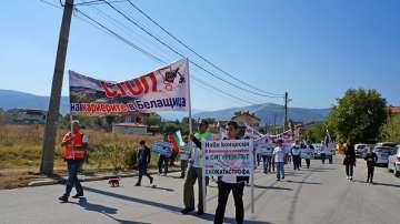 Граждани от Пловдивско излязоха на протест срещу добива на инертни материали
