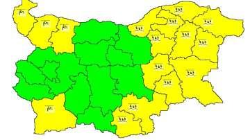 Жълт код за валежи в Източна България