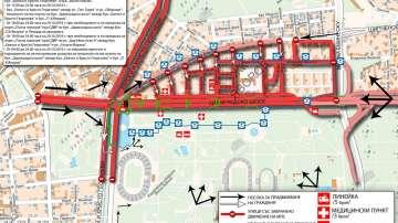 Голяма част от София ще е блокирана до неделя сутринта