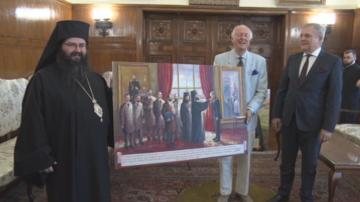 Княз Лобанов-Ростовски подари картина на Светия синод  