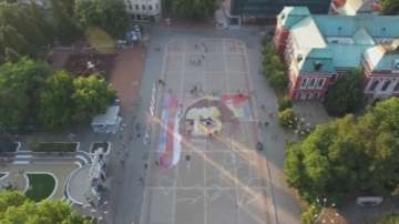 Завършват най-голямата картина на открито в България