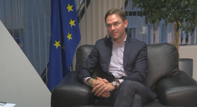 Юрки Катайнен, заместник-председател на Европейската комисия, застана пред камерата на