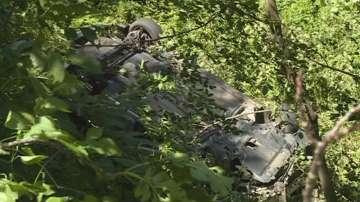 Кола падна в дере край Благоевград, няма сериозно пострадали