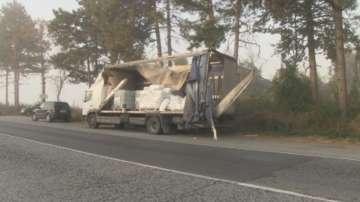 Два камиона се сблъскаха челно на пътя Русе - Бяла