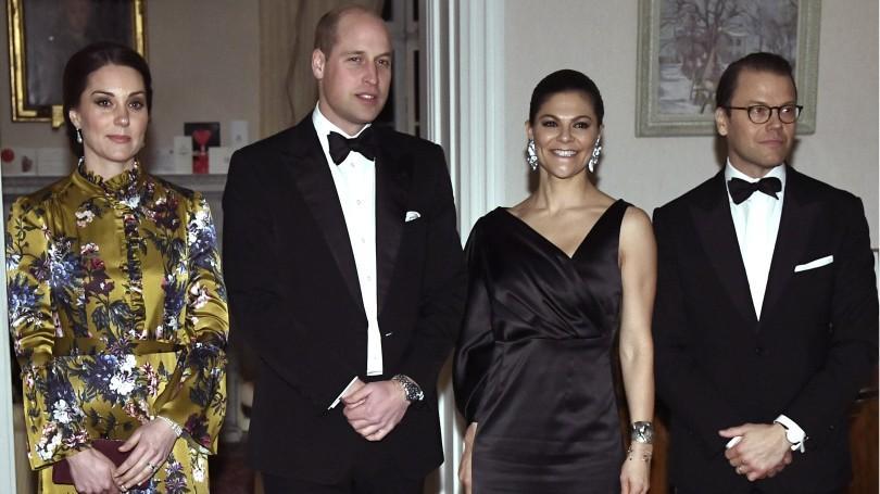 Бременната с трето дете Кейт и съпругът и принц Уилям