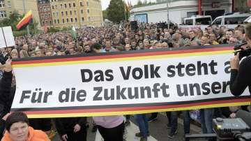 В германския град Кемниц и тази вечер имаше протестно шествие