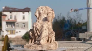 Откриха статуя на богинята Кибела при археологически разкопки в Пловдив