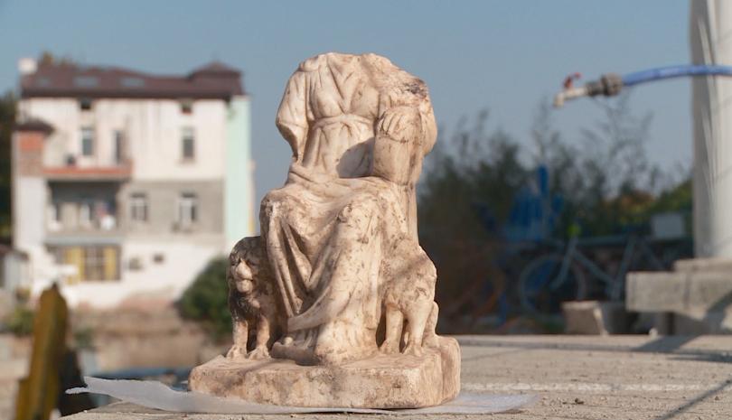 Поредна значима археологическа находка в Пловдив. Мраморна статуя на Великата