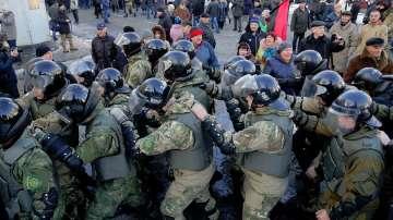 В Киев избухнаха сблъсъци между полицаи и ветарани от войната в Афганистан