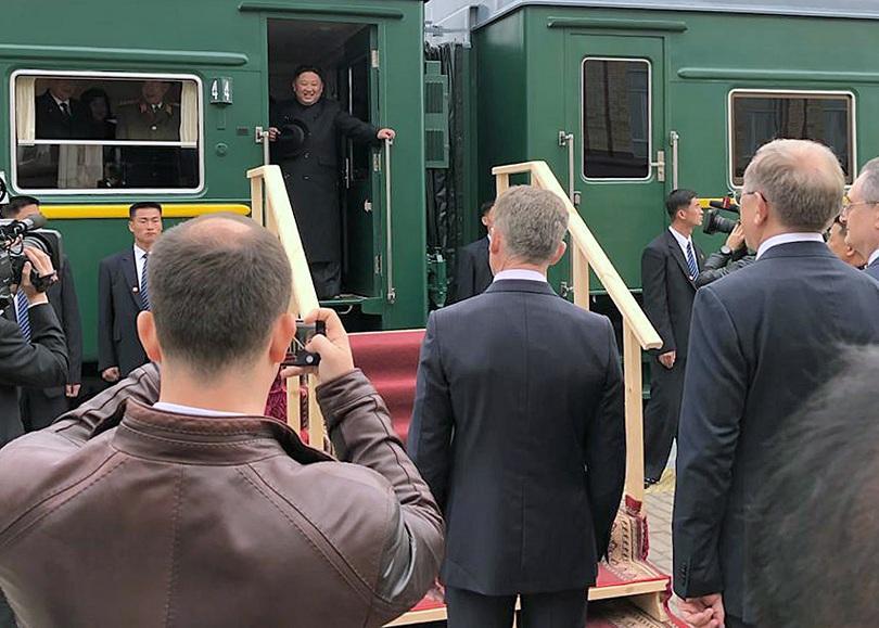Снимка: Ким Чен-ун пристигна с частния си влак в Русия за срещата с Путин