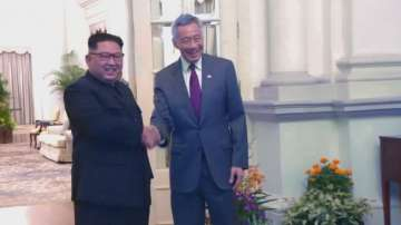 Севернокорейската държавна телевизия показа снимки на Ким Чен-ун в Сингапур