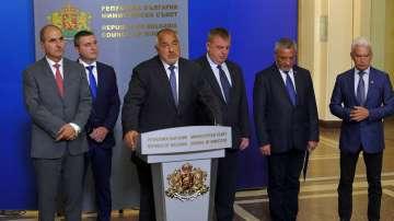 Приеха оставките на тримата министри, премиерът Борисов обяви новите кандидатури