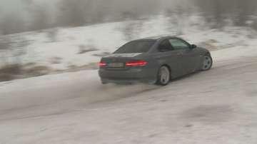 Експеримент: Как да шофирате безопасно при заледени участъци?