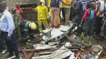 Пътнически самолет се разби над град в Конго, загиналите са най-малко 27